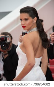 "CANNES, FRANCE. May 18, 2017: Adriana Lima at the premiere for ""Loveless"" at the 70th Festival de Cannes"