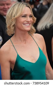 "CANNES, FRANCE. May 18, 2017: Robin Wright at the premiere for ""Loveless"" at the 70th Festival de Cannes"