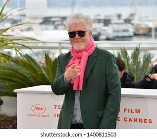 """CANNES, FRANCE. May 18, 2019: Pedro Almodovar at the photocall for the """"Pain and Glory"""" at the 72nd Festival de Cannes.Picture: Paul Smith / Featureflash"""