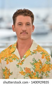 "CANNES, FRANCE. May 18, 2019: Miles Teller at the photocall for the ""Too Old to Die Young"" at the 72nd Festival de Cannes.