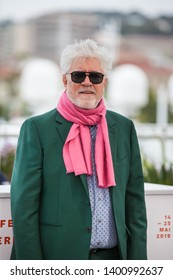 "CANNES, FRANCE - MAY 18, 2019:  Pedro Almodovar Cruz attends the photocall for ""Pain And Glory (Dolor Y Gloria/ Douleur Et Glorie)"" during the 72nd annual Cannes Film Festival"