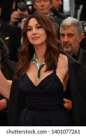 "CANNES, FRANCE. May 18, 2019: Monica Bellucci at the gala premiere for ""The Most Beautiful Years of a Life"" at the Festival de Cannes.