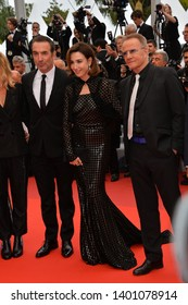 """CANNES, FRANCE. May 18, 2019: Jean Dujardin, Elsa Zylberstein & Christopher Lambert  at the gala premiere for """"The Most Beautiful Years of a Life""""  Picture: Paul Smith / Featureflash"""