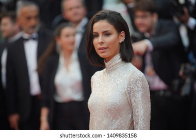 "CANNES, FRANCE. May 18, 2019: Lena Meyer-Landrut at the gala premiere for ""The Most Beautiful Years of a Life"" at the Festival de Cannes."