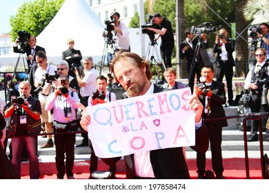 CANNES, FRANCE - MAY 18: Actor Viggo Mortensen attends the 'La Meraviglie' premiere during the 67th Annual Cannes Film Festival on May 18, 2014 in Cannes, France.