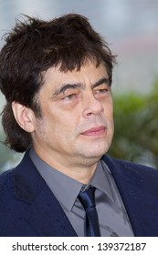 CANNES, FRANCE - MAY 18:  Benicio del Toro attends the photocall for 'Jimmy P. (Psychotherapy of a Plains Indian)' at the Palais during The 66th  Cannes Festival on May 18, 2013 in Cannes, France.