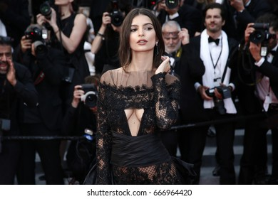 CANNES, FRANCE - MAY 18: Emily Ratajkowski attends the 'Loveless' premiere during the 70th Cannes Film Festival on May 18, 2017 in Cannes, France.