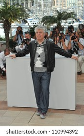 """CANNES, FRANCE - MAY 19, 2009: Pedro Almodovar at photocall for his new movie """"Broken Embraces"""""""