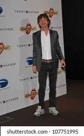 """CANNES, FRANCE - MAY 19, 2010: Mick Jagger at photocall for his new movie """"Stones in Exile"""" at the 63rd Festival de Cannes."""
