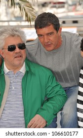 "CANNES, FRANCE - MAY 19, 2011: Antonio Banderas & director Pedro Almodovar at the photocall for ""The Skin I Live In"" at the 64th Festival de Cannes. May 19, 2011  Cannes, France"