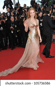 CANNES, FRANCE - MAY 19, 2012: Jessica Chastain at the gala screening of Lawless, in competition at the 65th Festival de Cannes. May 19, 2012  Cannes, France