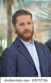 "CANNES, FRANCE - MAY 19, 2012: Tom Hardy at the photocall for his new movie ""Lawless"", in competition at the 65th Festival de Cannes. May 19, 2012  Cannes, France"