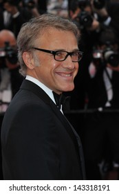 """CANNES, FRANCE - MAY 19, 2013: Christoph Waltz at the gala screening for """"Inside Llewyn Davis"""" in competition at the 66th Festival de Cannes."""