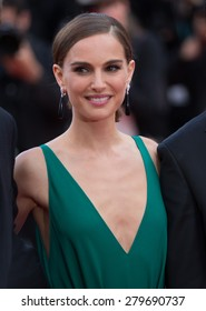 CANNES, FRANCE - MAY 19, 2015: Natalie Portman attendS the 'Sicario' Premiere during the 68th annual Cannes Film Festival on May 19, 2015 in Cannes, France.