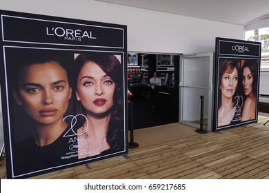 CANNES, FRANCE - MAY 19, 2017 Make Up studio L'Oreal Paris