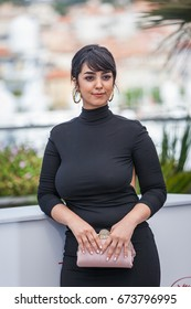 CANNES, FRANCE - MAY 19, 2017: Actress Mariam Al Ferjani attends the 'Alaka Kaf Ifrit (La Belle Et La Meute)' photocall during the 70th annual Cannes Film Festival at Palais des Festivals