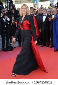 """CANNES, FRANCE. May 19, 2018: Cate Blanchett at the closing gala screening for """"The Man Who Killed Don Quixote"""" at the 71st Festival de Cannes"""