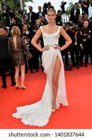 "CANNES, FRANCE. May 19, 2019: Toni Garrn at the gala premiere for ""A Hidden Life"" at the Festival de Cannes.
