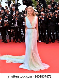 "CANNES, FRANCE. May 19, 2019: Elsa Hosk at the gala premiere for ""A Hidden Life"" at the Festival de Cannes.