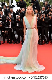 """CANNES, FRANCE. May 19, 2019: Elsa Hosk at the gala premiere for """"A Hidden Life"""" at the Festival de Cannes.Picture: Paul Smith / Featureflash"""