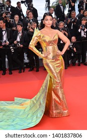 """CANNES, FRANCE. May 19, 2019: Aishwarya Rai at the gala premiere for """"A Hidden Life"""" at the Festival de Cannes.Picture: Paul Smith / Featureflash"""