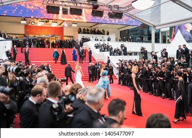"CANNES, FRANCE - MAY 19, 2019: Anja Rubik attends the screening of ""A Hidden Life (Une Vie Cachée)"" during the 72nd annual Cannes Film Festival"