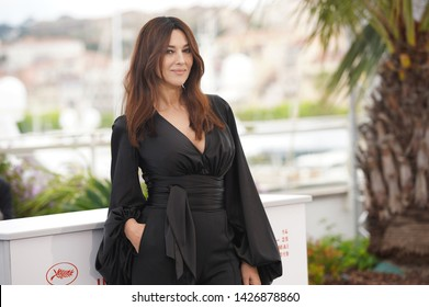 "CANNES, FRANCE - MAY 19, 2019: Monica Bellucci attends the photocall for ""The Best Years of a Life (Les Plus Belles Annees D'Une Vie)"" during the 72nd annual Cannes Film Festival"