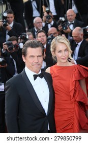CANNES, FRANCE - MAY 19:  Josh Brolin and Kathryn Boyd attend the 'Sicario' premiere during the 68th annual Cannes Film Festival on May 19, 2015 in Cannes, France