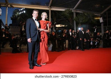 CANNES, FRANCE - MAY 19: Josh Brolin and Kathryn Boyd  attends the 'Sicario' premiere during the 68th annual Cannes Film Festival on May 19, 2015 in Cannes, France