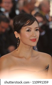 """CANNES, FRANCE - MAY 20, 2009: Ziyi Zhang at the premiere of """"Inglourious Basterds"""" in competition at the 62nd Festival de Cannes."""