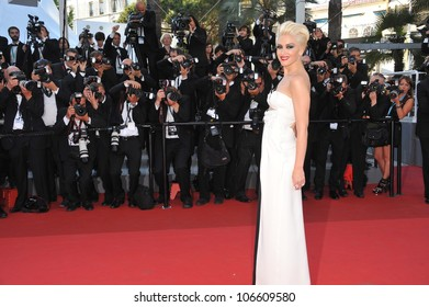 "CANNES, FRANCE - MAY 20, 2011: Gwen Stefani at the premiere of ""This Must Be The Place"" in competition at the 64th Festival de Cannes. May 20, 2011  Cannes, France"