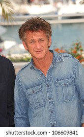 "CANNES, FRANCE - MAY 20, 2011: Sean Penn at the photocall for his new movie ""This Must Be The Place"" in competition at the 64th Festival de Cannes. May 20, 2011  Cannes, France"