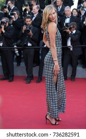 CANNES, FRANCE - MAY 20, 2015: Karlie Kloss attends the 'Youth' premiere. 68th annual Cannes Film Festival at the Palais des Festivals