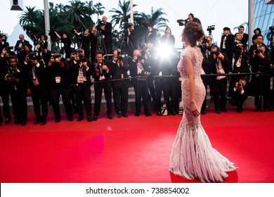 CANNES, FRANCE - MAY 20, 2015: Madalina Ghenea  attends the 'Youth' premiere. 68th annual Cannes Film Festival at the Palais des Festivals
