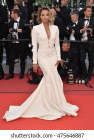 """CANNES, FRANCE - MAY 20, 2016: Actress Katerina Graham at the gala premiere for """"The Last Face"""" at the 69th Festival de Cannes."""