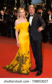 CANNES, FRANCE - MAY 20, 2016: Kirsten Dunst, Mads Mikkelsen  attend the 'The Neon Demon' Premiere. 69th annual Cannes Film Festival at the Palais des Festivals