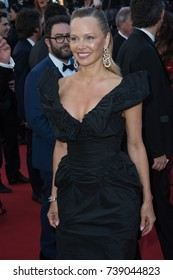 """CANNES, FRANCE. May 20, 2017: Pamela Anderson at the premiere for """"120 Beats per Minute"""" at the 70th Festival de Cannes"""