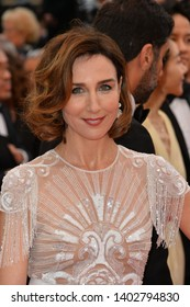 "CANNES, FRANCE. May 20, 2019: Elsa Zylberstein  at the gala premiere for ""La Belle Epoque"" at the Festival de Cannes.