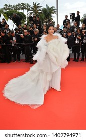 "CANNES, FRANCE. May 20, 2019: Aishwarya Rai at the gala premiere for ""La Belle Epoque"" at the Festival de Cannes.
