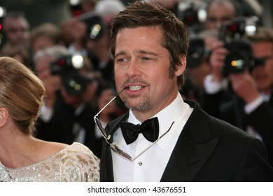 CANNES, FRANCE - MAY 20: Actor Brad Pitt attends the 'Inglourious Basterds' Premiere at the Grand Theatre Lumiere during the 62nd Annual Cannes Film Festival on May 20, 2009 in Cannes, France.