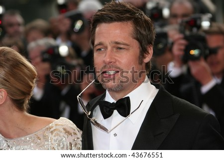 f29e48b745 CANNES FRANCE MAY 20 Actor Brad Stock Photo (Edit Now) 43676551 ...