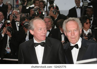 CANNES, FRANCE - MAY 20: Dardenne brothers attend the preview of 'Chromophobia,' Martha Fiennes's movie screened for the Closing Ceremony, at the Grand  Lumiere on May 20, 2005 in Cannes, France.