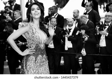 "CANNES, FRANCE - MAY 20: Mallika Sherawat attends the premiere of the movie ""Le Belle Epoque"" during the 72nd Cannes Film Festival on May 20, 2019 in Cannes, France."