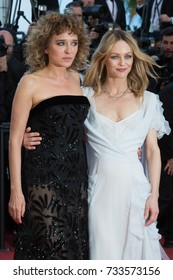 CANNES, FRANCE - MAY 20: Valeria Golino, Vanessa Paradis attends the 'The Last Face' premiere. 69th annual Cannes Film Festival at the Palais des Festivals on May 20, 2016 in Cannes