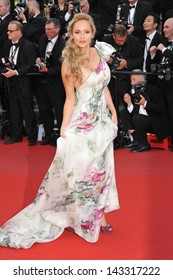 """CANNES, FRANCE - MAY 21, 2013: Beatrice Rosen at gala premiere for """"Behind the Candelabra"""" at the 66th Festival de Cannes."""