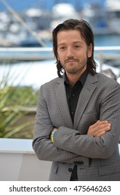 """CANNES, FRANCE - MAY 21, 2016: Actor Diego Luna at the photocall for """"Blood Father"""" at the 69th Festival de Cannes."""