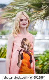 CANNES, FRANCE - MAY 21, 2017:  Elle Fanning attends the 'How To Talk To Girls At Parties' Photocall during the 70th annual Cannes Film Festival at Palais des Festivals