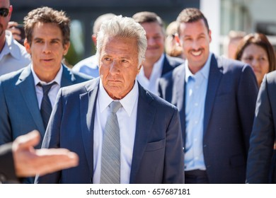 CANNES, FRANCE - MAY 21, 2017: Dustin Hoffman attends the 'The Meyerowitz Stories' photocall during the 70th annual Cannes Film Festival at Palais des Festivals