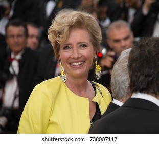 "CANNES, FRANCE. May 21, 2017: Emma Thompson at the premiere for ""The Meyerowitz Stories"" at the 70th Festival de Cannes"