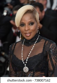 "CANNES, FRANCE. May 21, 2017: Singer Mary J. Blige at the premiere for ""The Meyerowitz Stories"" at the 70th Festival de Cannes"